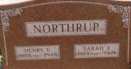 NORTHRUP, SARAH E. - Dixon County, Nebraska | SARAH E. NORTHRUP - Nebraska Gravestone Photos
