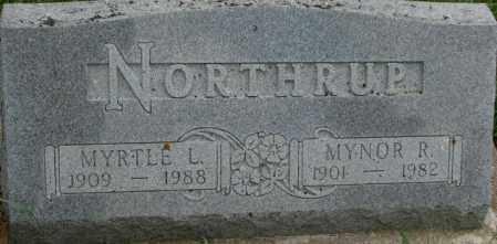 NORTHRUP, MYNOR R. - Dixon County, Nebraska | MYNOR R. NORTHRUP - Nebraska Gravestone Photos