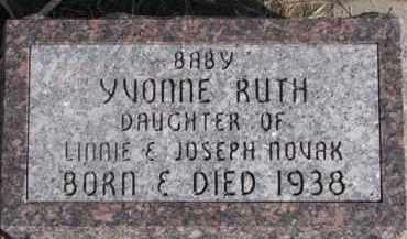 NOVAK, YVONNE RUTH - Dixon County, Nebraska | YVONNE RUTH NOVAK - Nebraska Gravestone Photos