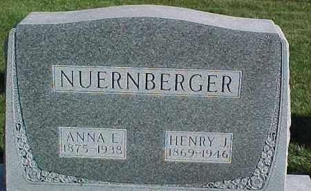 NUERNBERGER, ANNA E. - Dixon County, Nebraska | ANNA E. NUERNBERGER - Nebraska Gravestone Photos