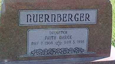 NUERNBERGER, FAITH MAREE - Dixon County, Nebraska | FAITH MAREE NUERNBERGER - Nebraska Gravestone Photos