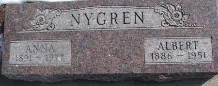 NYGREN, ALBERT - Dixon County, Nebraska | ALBERT NYGREN - Nebraska Gravestone Photos