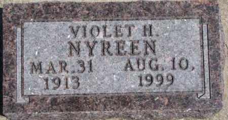 NYREEN, VIOLET H. - Dixon County, Nebraska   VIOLET H. NYREEN - Nebraska Gravestone Photos