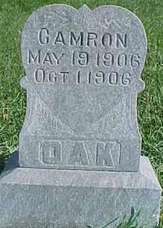 OAK, CAMRON - Dixon County, Nebraska | CAMRON OAK - Nebraska Gravestone Photos
