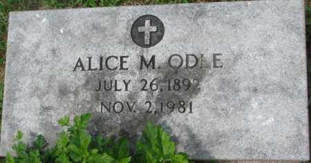 ODLE, ALICE M. - Dixon County, Nebraska | ALICE M. ODLE - Nebraska Gravestone Photos