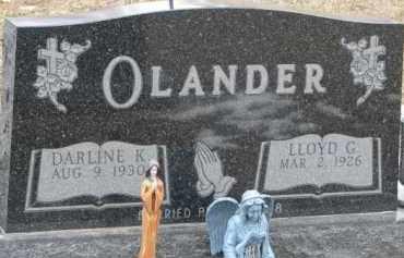 OLANDER, DARLINE K. - Dixon County, Nebraska   DARLINE K. OLANDER - Nebraska Gravestone Photos