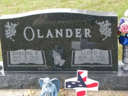POWER OLANDER, DARLINE K. - Dixon County, Nebraska | DARLINE K. POWER OLANDER - Nebraska Gravestone Photos