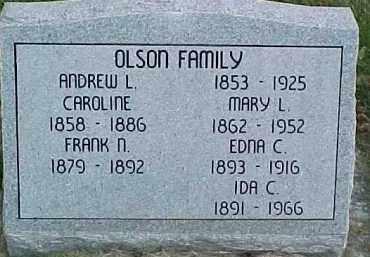 OLSON, CAROLINE M. - Dixon County, Nebraska | CAROLINE M. OLSON - Nebraska Gravestone Photos