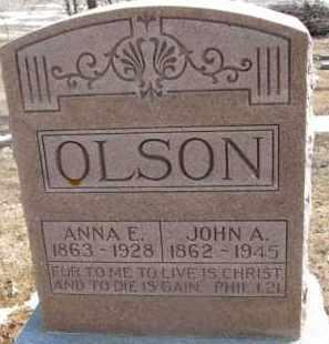 OLSON, JOHN A. - Dixon County, Nebraska   JOHN A. OLSON - Nebraska Gravestone Photos
