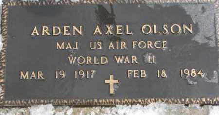 OLSON, ARDEN AXEL (WW II MARKER) - Dixon County, Nebraska | ARDEN AXEL (WW II MARKER) OLSON - Nebraska Gravestone Photos