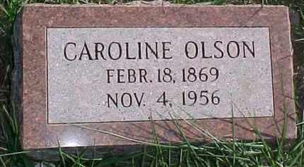 OLSON, CAROLINE - Dixon County, Nebraska | CAROLINE OLSON - Nebraska Gravestone Photos