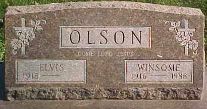 OLSON, WINSOME - Dixon County, Nebraska | WINSOME OLSON - Nebraska Gravestone Photos