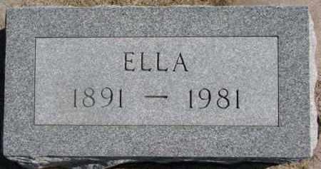 OLSON, ELLA - Dixon County, Nebraska   ELLA OLSON - Nebraska Gravestone Photos