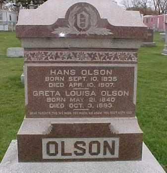 OLSON, GRETA LOUISA - Dixon County, Nebraska | GRETA LOUISA OLSON - Nebraska Gravestone Photos