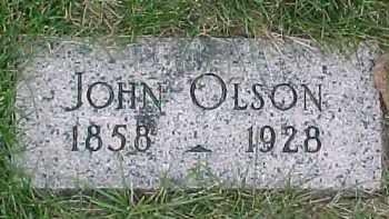 OLSON, JOHN - Dixon County, Nebraska | JOHN OLSON - Nebraska Gravestone Photos