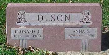 OLSON, LEONARD J. - Dixon County, Nebraska   LEONARD J. OLSON - Nebraska Gravestone Photos