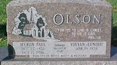 LUNDIN OLSON, VIVIAN - Dixon County, Nebraska | VIVIAN LUNDIN OLSON - Nebraska Gravestone Photos
