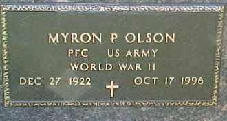 OLSON, MYRON P. - Dixon County, Nebraska   MYRON P. OLSON - Nebraska Gravestone Photos