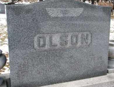 OLSON, AXEL - Dixon County, Nebraska | AXEL OLSON - Nebraska Gravestone Photos