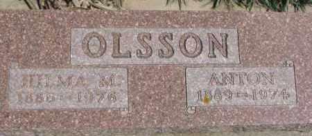 OLSSON, ANTON - Dixon County, Nebraska   ANTON OLSSON - Nebraska Gravestone Photos