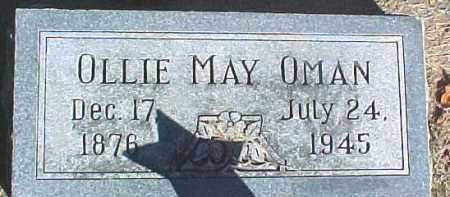 OMAN, OLLIE MAY - Dixon County, Nebraska | OLLIE MAY OMAN - Nebraska Gravestone Photos