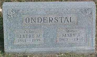 ONDERSTAL, ALBERT M. - Dixon County, Nebraska | ALBERT M. ONDERSTAL - Nebraska Gravestone Photos