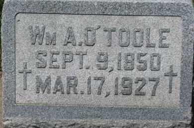 O'TOOLE, WM. A. - Dixon County, Nebraska | WM. A. O'TOOLE - Nebraska Gravestone Photos