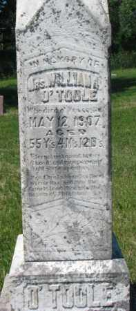 O'TOOLE, WILLIAM (MRS). - Dixon County, Nebraska | WILLIAM (MRS). O'TOOLE - Nebraska Gravestone Photos