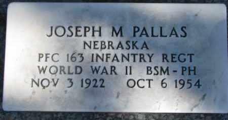 PALLAS, JOSEPH M. - Dixon County, Nebraska | JOSEPH M. PALLAS - Nebraska Gravestone Photos