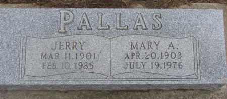 PALLAS, MARY A. - Dixon County, Nebraska | MARY A. PALLAS - Nebraska Gravestone Photos