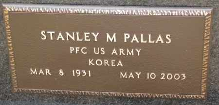PALLAS, STANLEY M. (MILITARY MARKER) - Dixon County, Nebraska   STANLEY M. (MILITARY MARKER) PALLAS - Nebraska Gravestone Photos