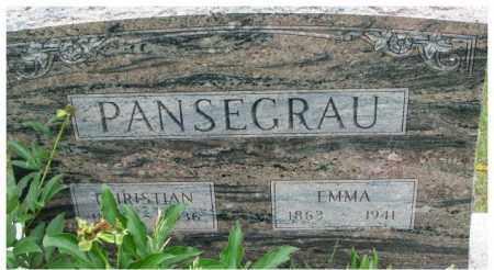 PANSEGRAU, EMMA - Dixon County, Nebraska | EMMA PANSEGRAU - Nebraska Gravestone Photos