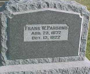 PARSONS, FRANK W. - Dixon County, Nebraska | FRANK W. PARSONS - Nebraska Gravestone Photos