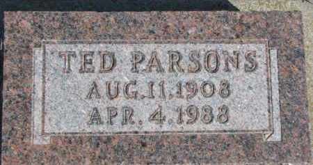 PARSONS, TED - Dixon County, Nebraska | TED PARSONS - Nebraska Gravestone Photos