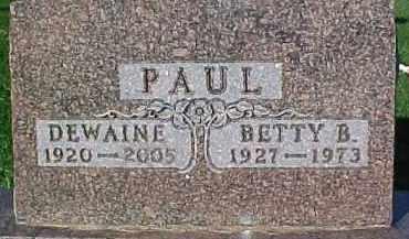 PAUL, DEWAINE - Dixon County, Nebraska | DEWAINE PAUL - Nebraska Gravestone Photos