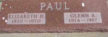 PAUL, ELIZABETH H. - Dixon County, Nebraska   ELIZABETH H. PAUL - Nebraska Gravestone Photos
