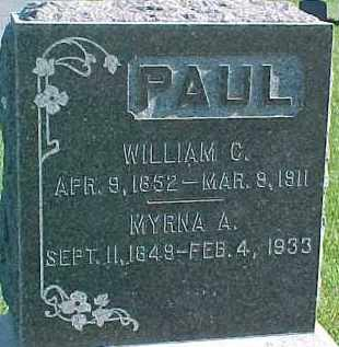 PAUL, WILLIAM C. - Dixon County, Nebraska | WILLIAM C. PAUL - Nebraska Gravestone Photos