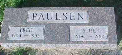 PAULSEN, FRED - Dixon County, Nebraska | FRED PAULSEN - Nebraska Gravestone Photos