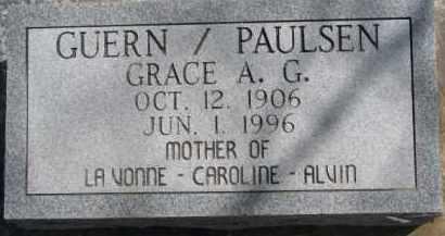 GUERN PAULSEN, GRACE A.G. - Dixon County, Nebraska | GRACE A.G. GUERN PAULSEN - Nebraska Gravestone Photos