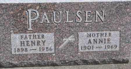 PAULSEN, ANNIE - Dixon County, Nebraska   ANNIE PAULSEN - Nebraska Gravestone Photos