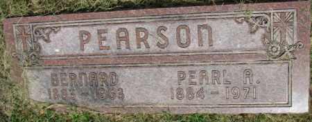 PEARSON, BERNARD - Dixon County, Nebraska | BERNARD PEARSON - Nebraska Gravestone Photos