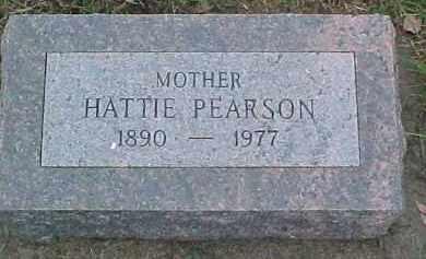 PEARSON, HATTIE - Dixon County, Nebraska   HATTIE PEARSON - Nebraska Gravestone Photos