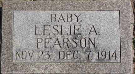 PEARSON, LESLIE A. - Dixon County, Nebraska | LESLIE A. PEARSON - Nebraska Gravestone Photos