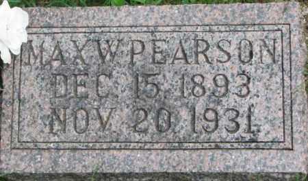 PEARSON, MAX W. - Dixon County, Nebraska   MAX W. PEARSON - Nebraska Gravestone Photos