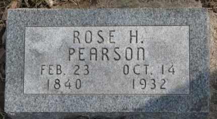 PEARSON, ROSE H. - Dixon County, Nebraska | ROSE H. PEARSON - Nebraska Gravestone Photos