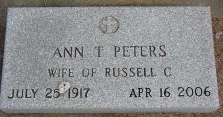 PETERS, ANN T. - Dixon County, Nebraska | ANN T. PETERS - Nebraska Gravestone Photos