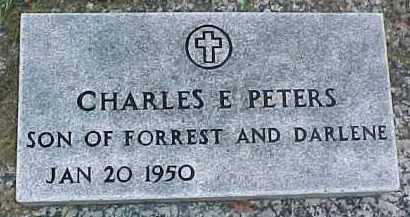 PETERS, CHARLES E. - Dixon County, Nebraska | CHARLES E. PETERS - Nebraska Gravestone Photos