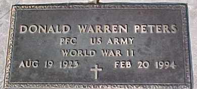 PETERS, DONAL W. (WW II MARKER) - Dixon County, Nebraska | DONAL W. (WW II MARKER) PETERS - Nebraska Gravestone Photos