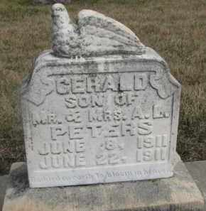 PETERS, GERALD - Dixon County, Nebraska | GERALD PETERS - Nebraska Gravestone Photos