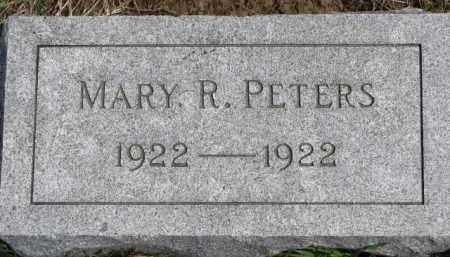 PETERS, MARY R. - Dixon County, Nebraska | MARY R. PETERS - Nebraska Gravestone Photos